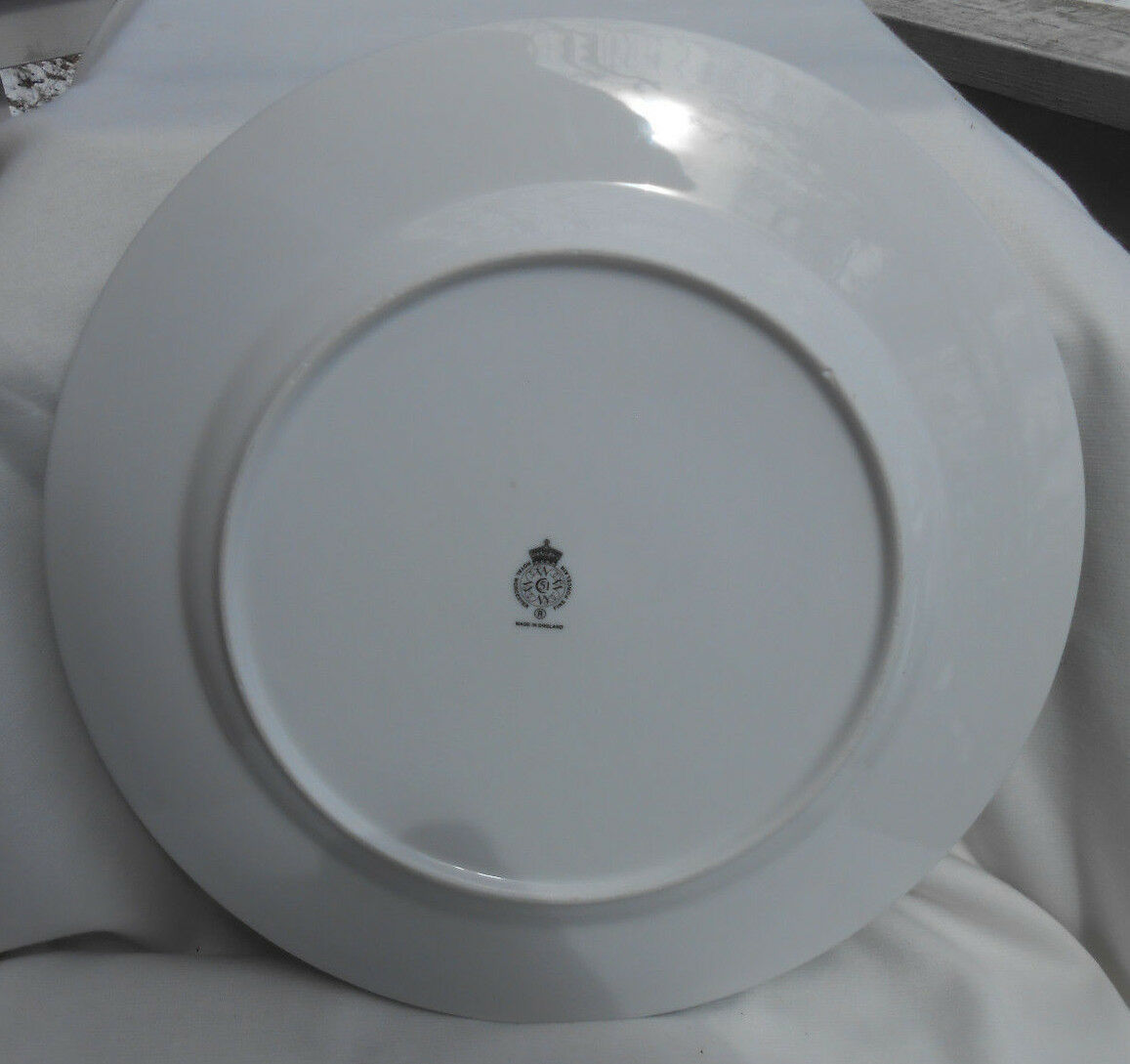 """ROYAL WORCESTER HERBS CHOP SERVICE PLATE PLATTER GREEN TRIM WILD THYME 12 1/8"""" image 2"""
