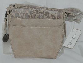 Simply Noelle Brand Beige Taupe Color Floral Leaf Pattern Womens Purse image 3