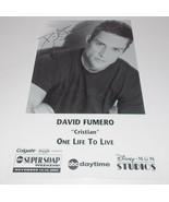 David Fumero Autograph Reprint Photo 9x6 One Life to Live 2004 Power - $9.99