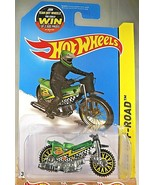 2015 Hot Wheels #85 HW Off-Road/HW Moto TRED SHREDDER Green w/Yellow Lac... - $8.50