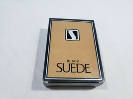 Rare Vintage 3.25 oz AVON Black Suede Mens Splash Cologne   - $29.59
