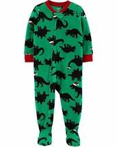 Carter's Boys' One Piece Christmas Fleece Pajamas 3T, Green/Christmas Dinosaur