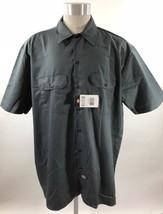 Dickies Mens Work Shirt Size XL Short Sleeve Button Down Dark Gray NEW - $23.75