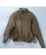 John Ashford Leather Bomber Jacket Size XL - $75.01