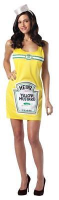 Heinz Mustard Bottle Womens Costume Dress Yellow Condiment Adult Unique GC4866