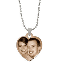 Double Sided Full Color Custom Personalized Photo Heart Dog Tag Picture ... - $12.16