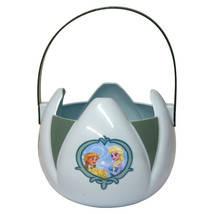 PTI*Candy Basket DISNEY FROZEN Hard Plastic EASTER/HALLOWEEN Baby Blue+G... - $7.20