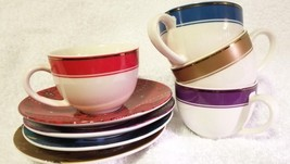 Set of Four Starbucks Christmas Holiday Demitasse Cups & Saucers - $18.00