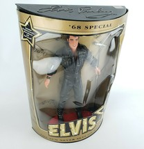 Elvis Presley Doll '68 Special Figure 1993 Hasbro W/ MicrophoneRed Stage /Stand - $28.03