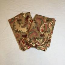 2 Standard Pillow Shams Floral Paisley Charter Club 100% Cotton - $29.02