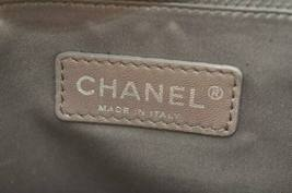 CHANEL Nylon Matelasse Chain Shoulder Bag Black Auth 9576 **Powder image 11