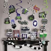Beetlejuice Room Decoration Halloween Party Supplies 24PC Banner Swirls ... - $15.79