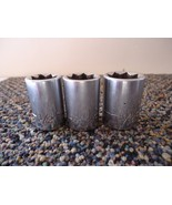 """Vintage Craftsman -V- Series Set Of (3) 1/2"""" Drive 8 Point Sockets 1/2,9... - $32.71"""