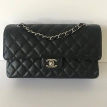 Chanel Black Quilted Caviar Medium Classic Double Flap Bag 18yrs on eBay - $6,435.00
