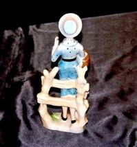Figurine of Young Girl carrying a basket  (Relco Japan) AA18 - 1117 Vintage image 3