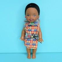 Barbie Kelly Dolls Of The World Kenya AA Black Doll Dress No Shoes 2002 - $14.95