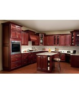All Solid Maple Wood KITCHEN CABINETS 10x10 RTA JSI Georgetown Cherry St... - €1.777,79 EUR