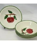 "Blue Ridge Quaker Apple Cereal Bowls 6"" Lot of 5 - $45.07"