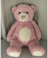 Aurora Baby Soft Stuffed Plush Pink Teddy Bear White Snout Nose Belly Gr... - $79.19