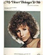 My Heart Belongs to Me From the Album Streisand Superman [Sheet music] - $14.69