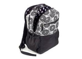 Brand New Studio C Hello Dahlia Black & White Floral Backpack 51251292 image 3