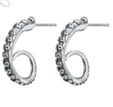 Stainless Steel Gothic Octopus Tentacle Stud Earrings for Men Or Women [... - $12.64