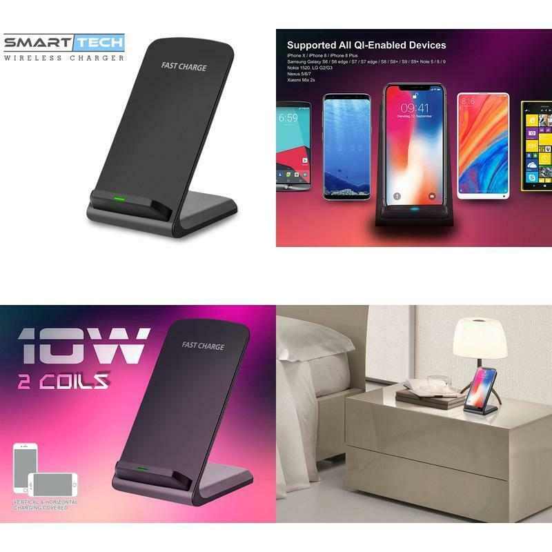 Smart|Tech 10W Fast Wireless Charger Stand For Samsung Galaxy S9 | S8 | S8+ | S7