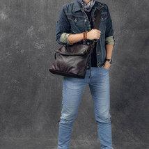 Sale, Full Grain Leather Men Shoulder Bag, Stylish Men Messenger Bag, Laptop Bag image 6