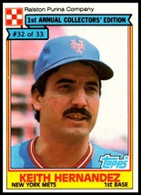 1984 Topps Ralston Purina #32 Keith Hernandez NM-MT New York Mets  - $3.00