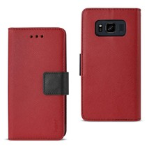 Reiko Samsung Galaxy S8 Active 3-in-1 Wallet Case In Red - $9.00