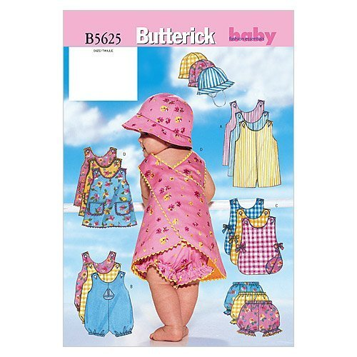 Primary image for Butterick Patterns B5625 Infants' Romper, Jumper, Panties and Hat, Size NB0 (NB-