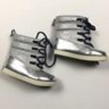 $55 NEW Tommy Hilfiger Baby Girl Snow Boots Regan T Glitter Silver Kids 10 - £22.04 GBP