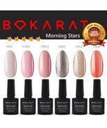 Bokarat Gel Nail Polish Set 6 x 7.3ml Soak Off UV LED High Quality Multi... - $18.69