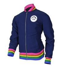Womens I'm Tired Classic Cotton Rainbow Rib Knit Bomber Jacket image 2