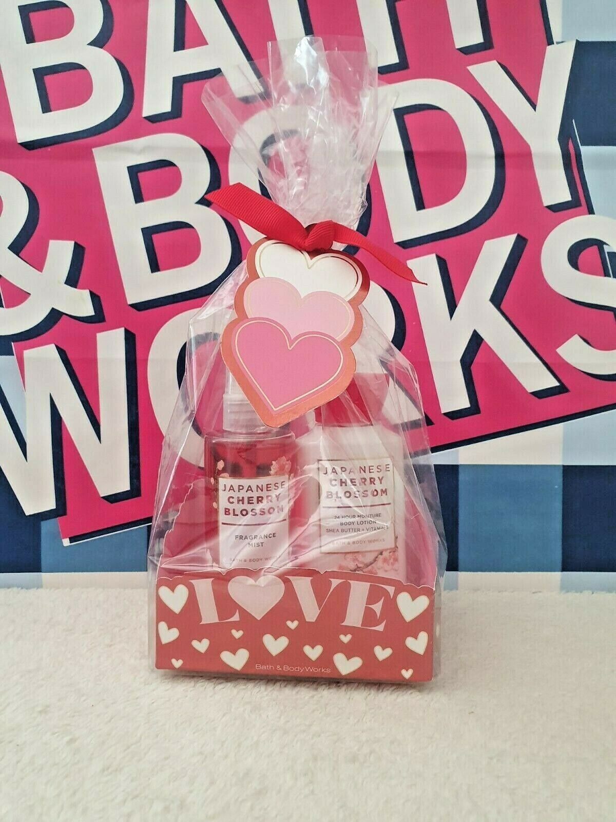 Primary image for New Bath & Body Works Love Japanese Cherry Blossom Travel Size 2 Pc Gift Set