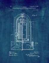 Recording And Reproducing Sounds Patent Print - Midnight Blue - $7.95+