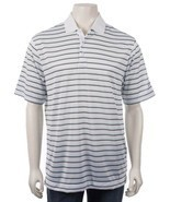 NEW MENS NIKE GOLF DRI DRY FIT BODY MAPPING WHITE STRIPE SHIRT MEDIUM ME... - $37.39