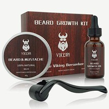 Derma Roller Beard Growth Kit, Beard Derma Roller+ Beard Growth Serum Oil+ Beard