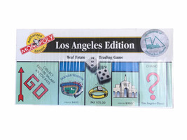 Authorized Monopoly Game Los Angeles California Edition Hasbro 1996 New ... - $65.09