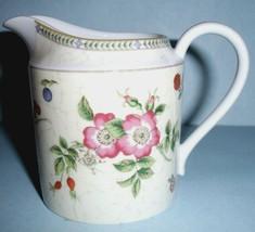 Wedgwood FLEUR Creamer Fine China Floral & Fruit Motif New - $24.90