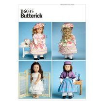 """Butterick Pattern 6035 Doll Clothing for 18"""" Doll, Multiple Styles - $14.70"""