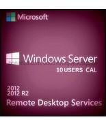 Microsoft Windows Server 2012 R2 Remote Desktop Services 10 Users CAL 64 bit KEY - $68.99