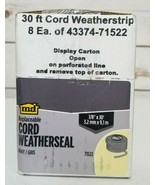 "8 Pack - M&D 71522 -Replaceable Cord Weatherseal, Gray, 1/8"" x 30', unop... - $21.55"