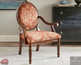 Victorian Style Antique Hand-Carved Wood Arm Accent Chair MidCentury Lou... - $262.35