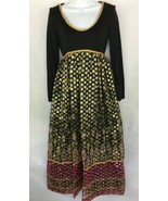 Act 2 Black Gold Print Stage Film Party Theatrical Costume Designer Dres... - $25.49