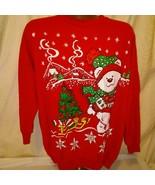 Linda Lori New York Womens Red Christmas Sweatshirt  - $24.75