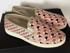 New Coach Style C117 FG2113 Slip on Heart Print Women's Shoes Size 6 B Blush - $74.00