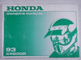 93 Honda XR200R Nos Oem Original Driver's Owner's Manual - $33.59