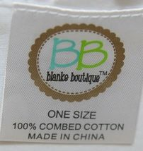 Blanks Boutique Infant White Ruffle Baby Blanket Thirty One And Half Inches image 3