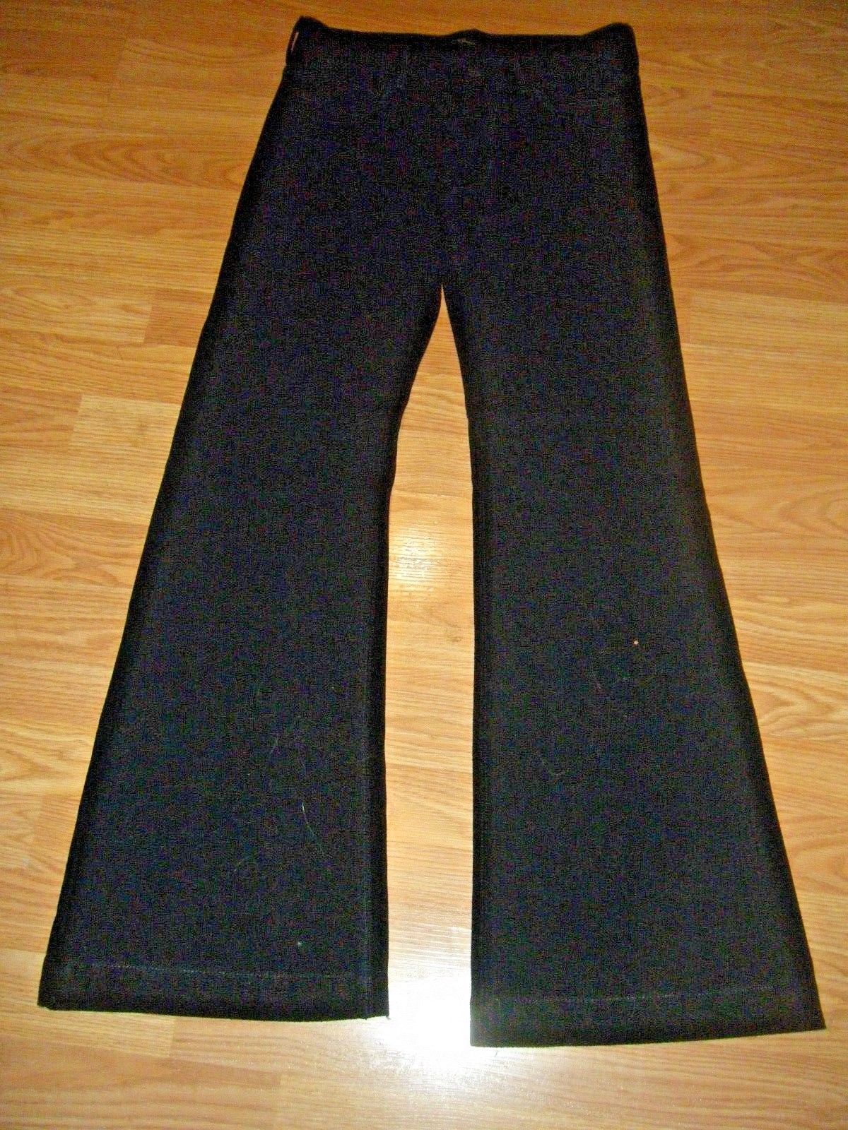 Primary image for SEVEN FOR ALL MANKIND BLACK STRETCH KNIT WIDE LEG JEANS SIZE 29